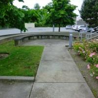 concrete sidewalk before power washing