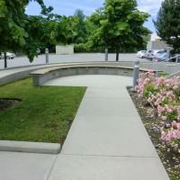 concrete sidewalk after power washed