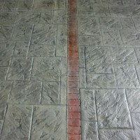 stamped concrete low gloss finish