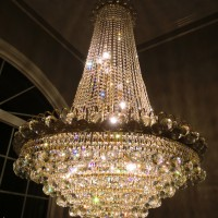 a clean crystal chandelier