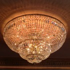 This beautiful chandelier just sparkles now that it's been cleaned!