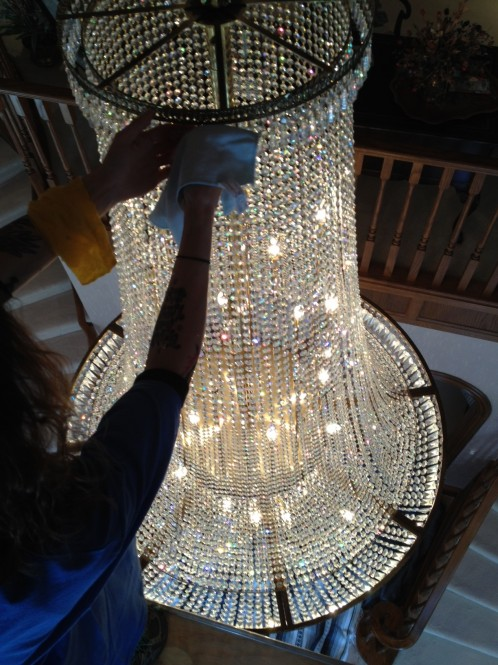 Glass or crystal chandelier cleaning north west vancouver burnaby vancouver chandelier cleaning aloadofball Images