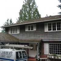 North Vancouver house before washing - very dirty!