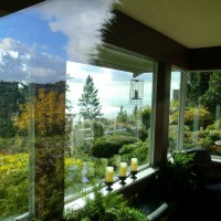 Clean windows in West Vancouver