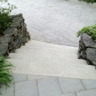 Concrete patio stones, stairs and paving stone sealing