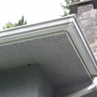 exterior gutter aluminum that has been washed