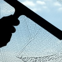 """Window washing by """"Hand cleaning"""" method - applicator & squeegee"""