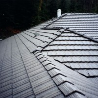 a de-mossed concrete tile roof