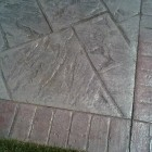 stamped concrete sealing - low sheen finish