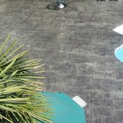 stamped concrete sealing - High gloss finish
