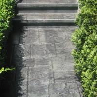 stamped concrete sealing - high sheen finish