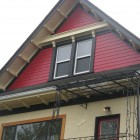 Vancouver heritage house exterior painted - soffits, trim boards and walls