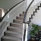 spindle stair railings & handrail painted