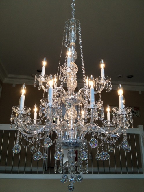 Richmond Chandelier Cleaning A Glass Act