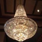 Sparkling clean chandelier