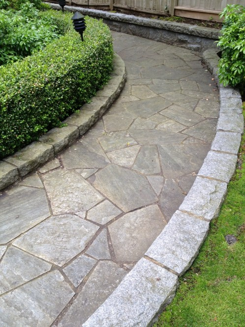 Vancouver power washing a glass act for Natural stone walkways