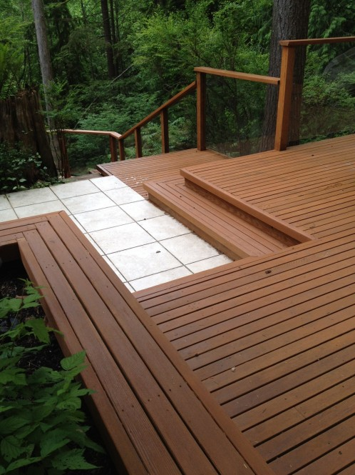 North Vancouver Wooden Deck Refinishing - A Glass Act