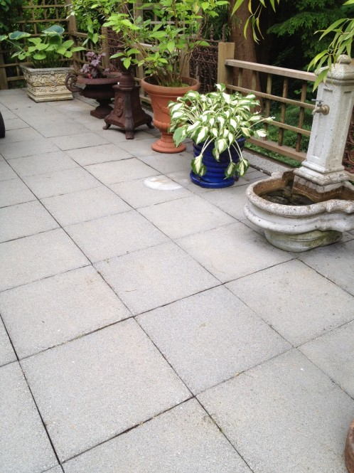 Concrete Patio Slabs After Power Washing