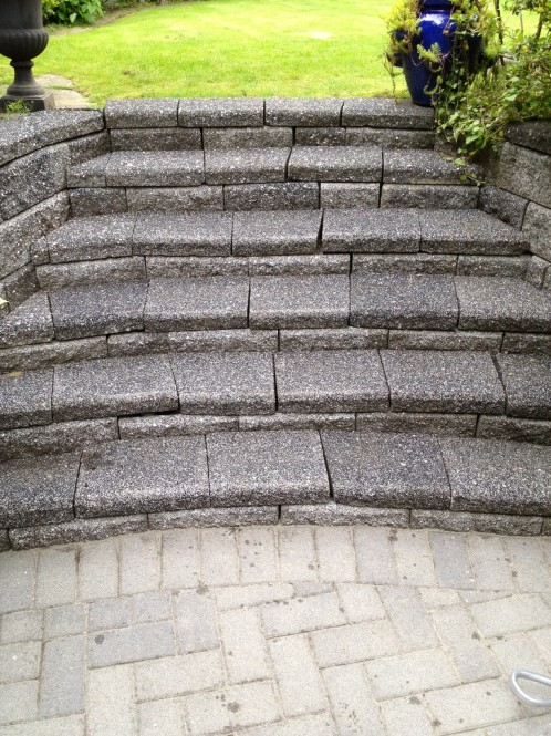 Paving stone pressure washing and cleaning north vancouver for Cleaning concrete steps