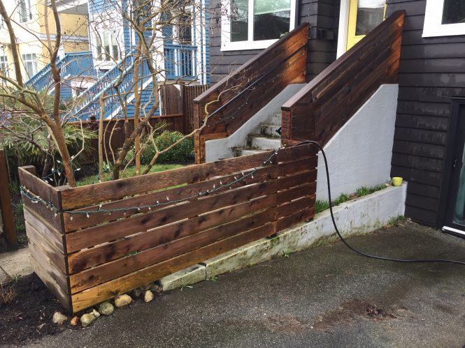 Stairs and railings AFTER power washing North Vancouver