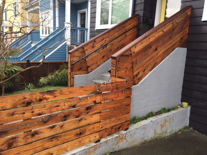 Stairs & Wooden railings AFTER power washingr